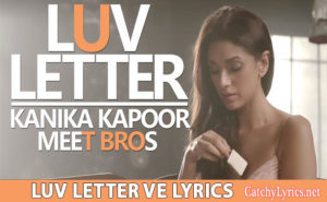 Luv Letter Song Lyrics – Michael Mishra | Aditi Rao, Meet Bros, Kanika Kapoor image