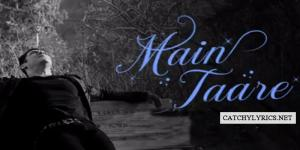 MAIN TAARE LYRICS – Salman Khan – Notebook image
