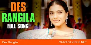 Des Rangila Hindi Lyrics – Mahalaxmi Iyer image