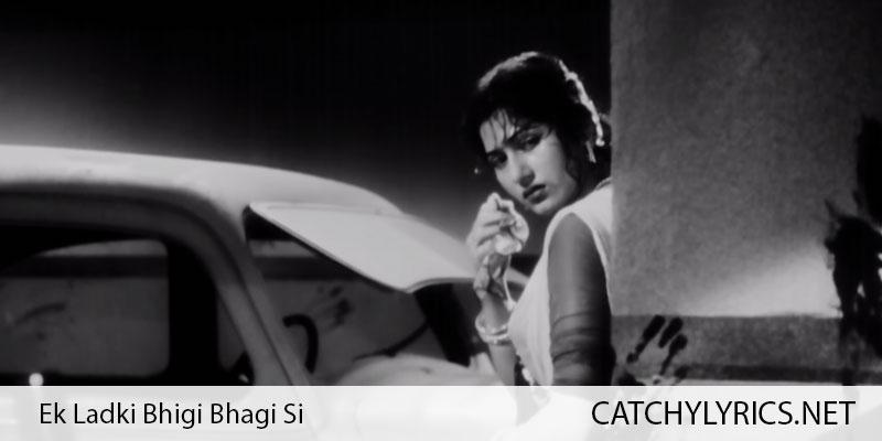 Ek Ladki Bhigi Bhagi Si Lyrics – Chalti Ka Naam Gaadi (1958) images