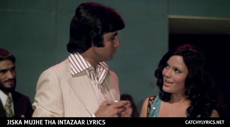Jiska Mujhe Tha Intazaar Lyrics – Amitabh Bachchan – Zeenat Aman – Don images